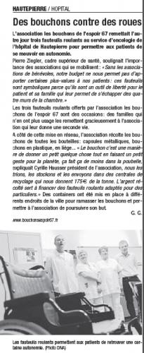 20090215 Des bouchons contre des roues - Hautepierre