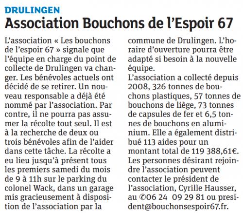20150704 Association Bouchons de l'Espoir - Drulingen