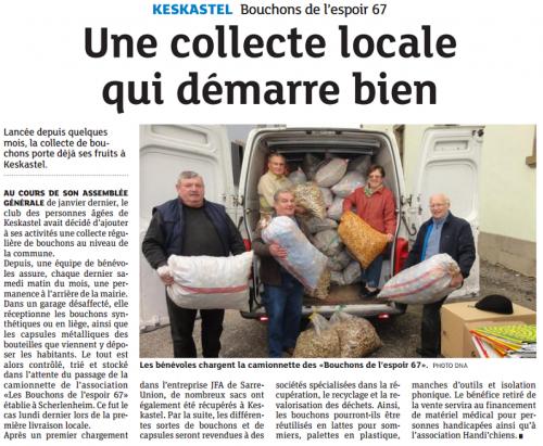 20151023 Une collecte locale qui démarre bien-Keskastel