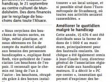 20160928 Comment des bouchons recyclés permettent d%27aider les handicapés - Mundolsheim