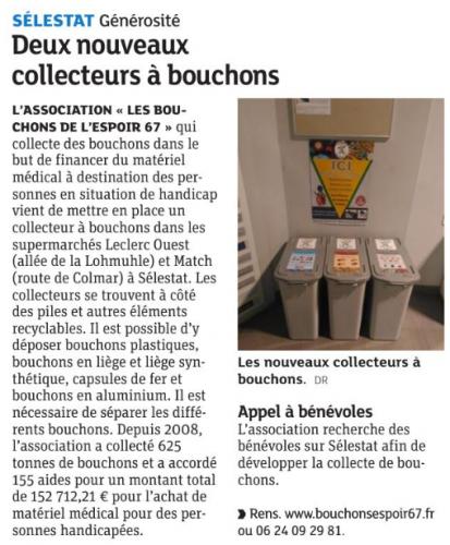 20170321 Deux nouveaux collecteurs à bouchons - Sélestat